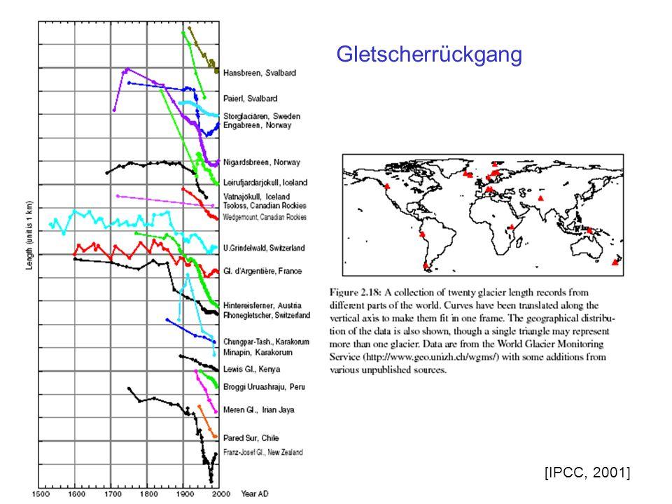 Gletscherrückgang [IPCC, 2001]